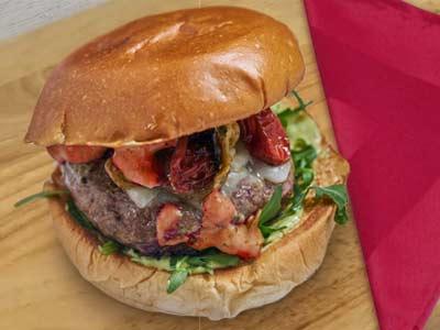 hamburger con tovagliolo evid