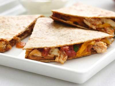 quesadilla con salsa boscaiola piccante evid