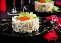 insalata russa caviale rosso